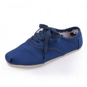 Toms Shoes Navy Canvas Women's Cordones Shoes in Toms Outlet