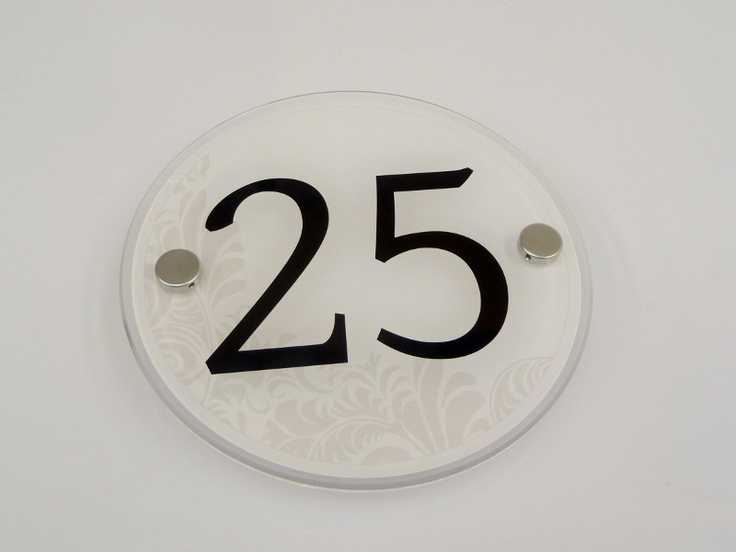House Number Sign 25... ART deco door signs in subtle and vibrant shades which one will you choose?: House Number Signs, Door Signs, Numbers Temp, House Signs, House Numbers