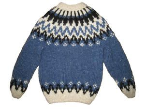 Pattern - WAVES - FREE - Icelandic Knitted Sweater for children - No 7