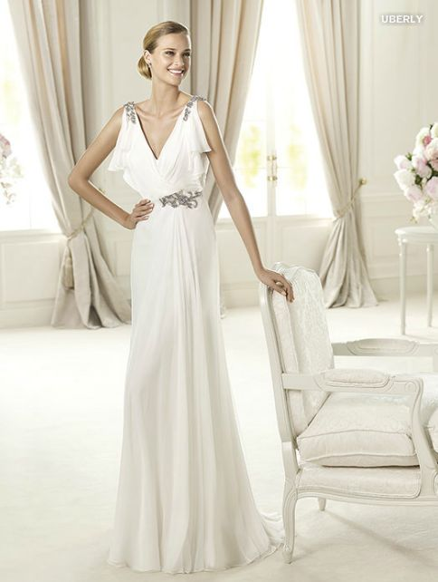 Article personnalisé Recherche de robe de mariée déesse grecque pour Charlène