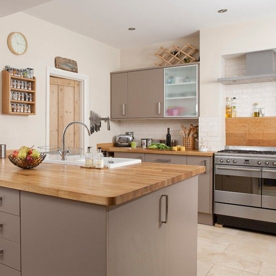 Earthy kitchen | Traditional kitchen | Wooden worktops | Image | Housetohome