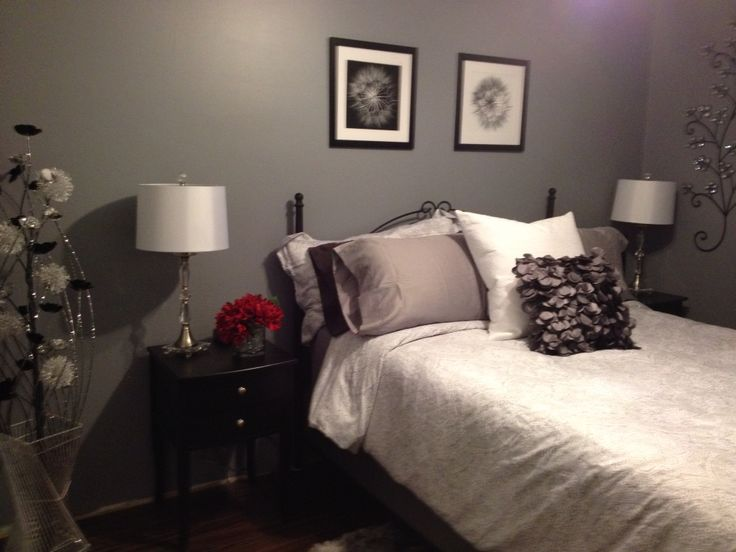 My grey spare bedroom