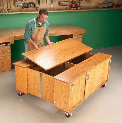 AW Extra - Torsion-Box Workbench and Expandable Assembly Table - Popular Woodworking Magazine #woodworkingbench