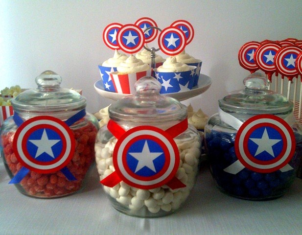 Captain America Party Sweets