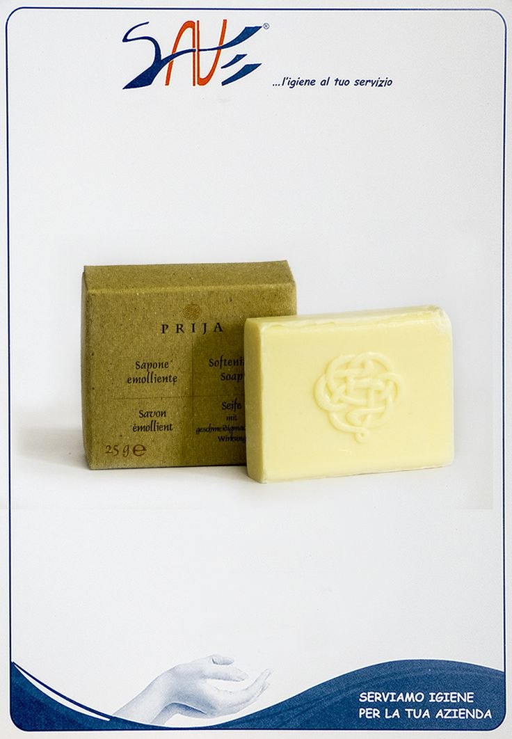 Sapone vegetale Prija realizzata con componenti pregiati e naturali, dalle fragranze esotiche. Disponibile in singola confezione da 100 pezzi ciascuna.