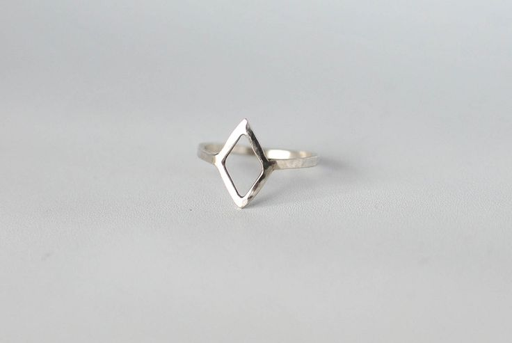 See-through Diamond silver ring. They say diamonds are a girl's best friend. I don't know about that, but this one I can't live without! Simplicity is queen!