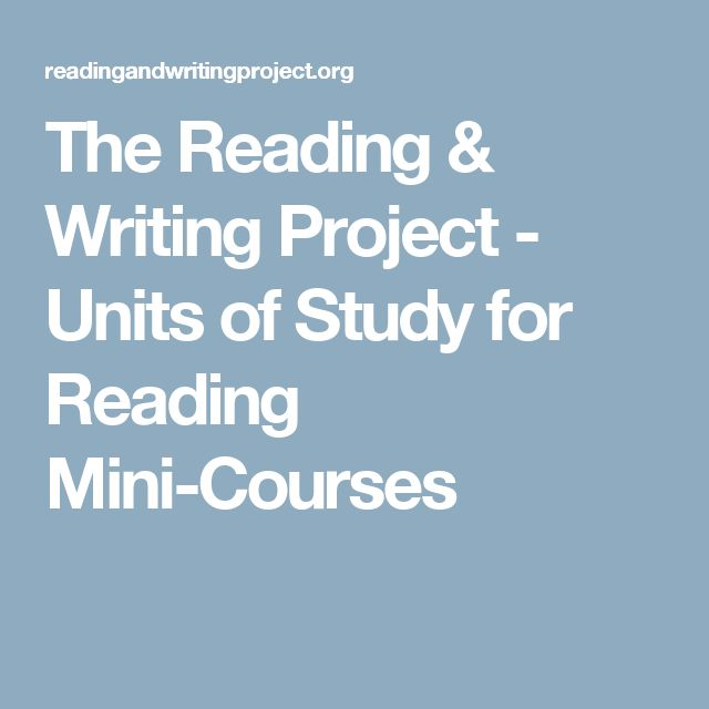 lucy calkins reading and writing project Writing workshop is a method of writing this approach has been popularized by lucy calkins and others involved in the reading and writing project at.