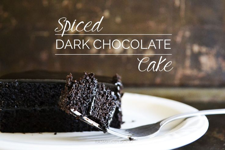 Spiced Dark Chocolate Cake :: Grain-Free, Dairy-Free, Paleo // deliciousobsessions.com
