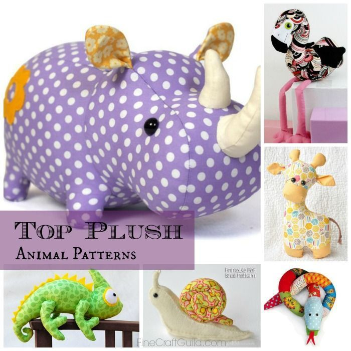 Top 9 Toy Animal Sewing Patterns