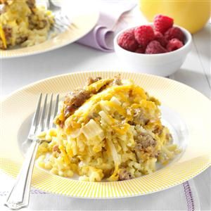 Slow Cooker Breakfast Casserole Recipe -I love this breakfast casserole because I can make it the night before and it's ready in the morning. A perfect recipe while I'm out camping or when I have weekend guests.—Ella Stutheit, Las Vegas, Nevada