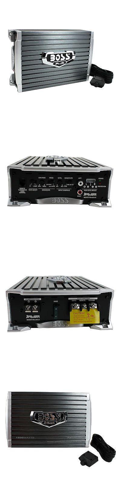 Car Amplifiers: Boss Audio 1500 Watt Mono A B Mosfet Power Car Amplifier + Remote | Ar1500m -> BUY IT NOW ONLY: $54.9 on eBay!