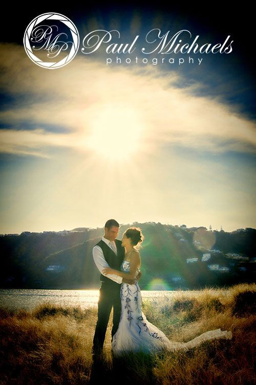 On the beach at the pines wedding reception. PaulMichaels Wellington wedding photography http://www.paulmichaels.co.nz/