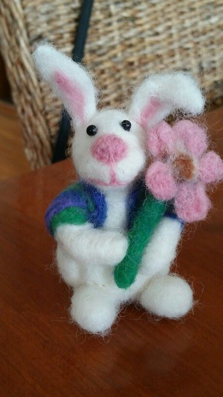 Some bunny loves you...my 4th attempt at needle felting.