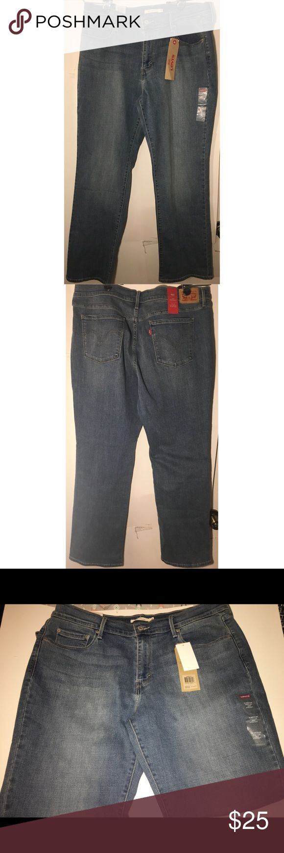 Levis 505  Straight Leg Jeans NWT (16) Brand new with tags jeans. Waist 33 Length 32. Mid rise, easy through the hips and thighs. Smoke free 🚭 Pet Friendly home 🐱🐱🐶 Levi's Jeans Straight Leg