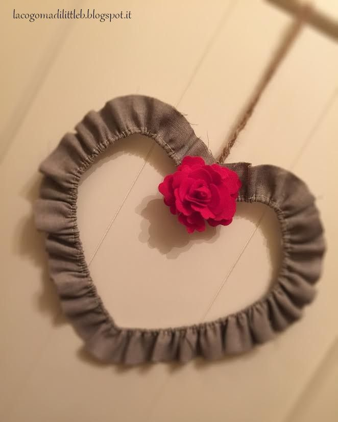 Heart with red rose