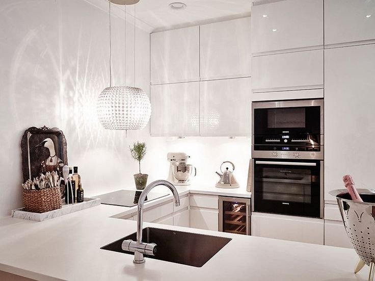 2198 best Cuisine blanche - White kitchen images on Pinterest - k chenzeile l form