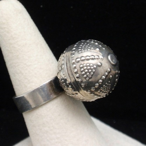 Kalevala Koru Finland Ring Modernist Sterling Silver Textured Ball | eBay
