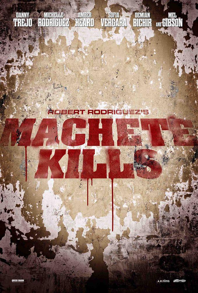 Póster de 'Machete Kills' la secuela de 'Machete'. Repiten el tandem Robert Rodíguez y Danny Trejo. Estreno en 2013