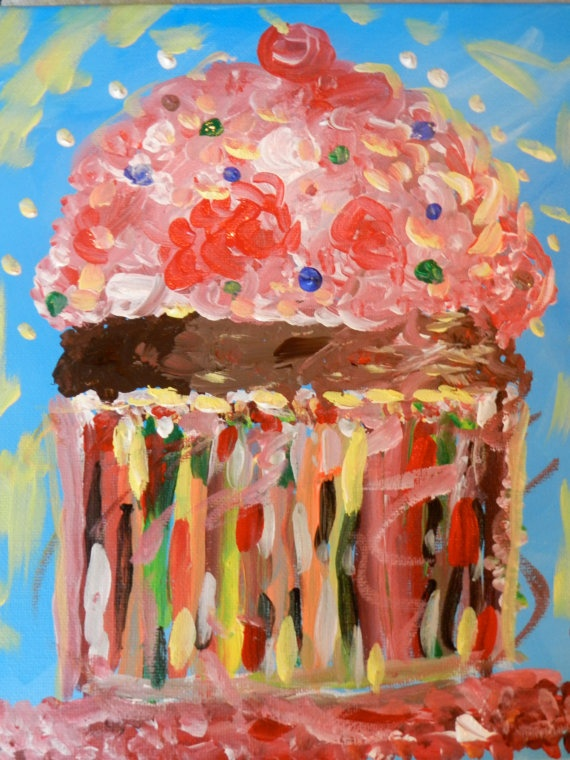 cupcake painting: Paintings Parties, Oil Paintings, Paintings Ideas, Painting Parties, Cupcake Paintings
