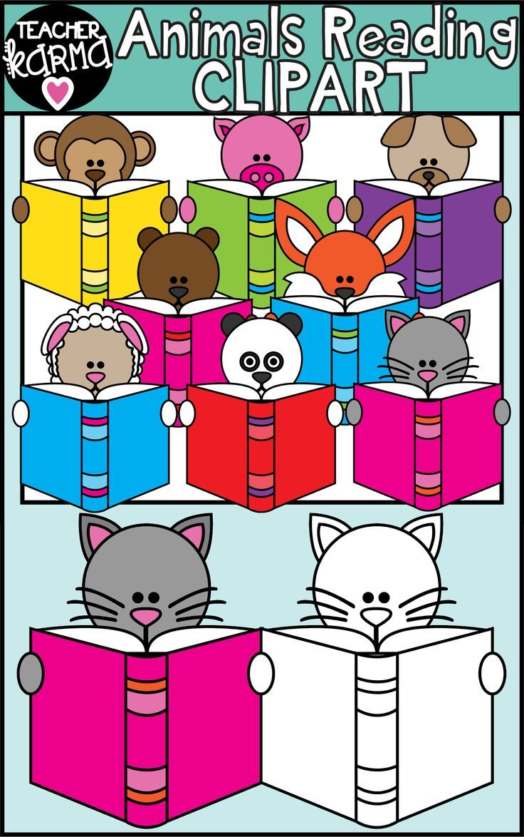 Animals Reading Books Clipart Special Education Community