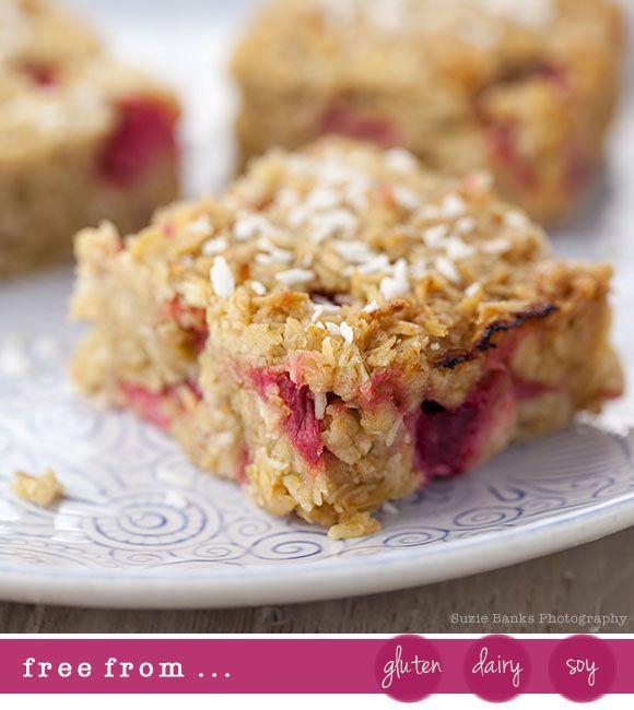 Rhubarb & Coconut Flapjack Recipe