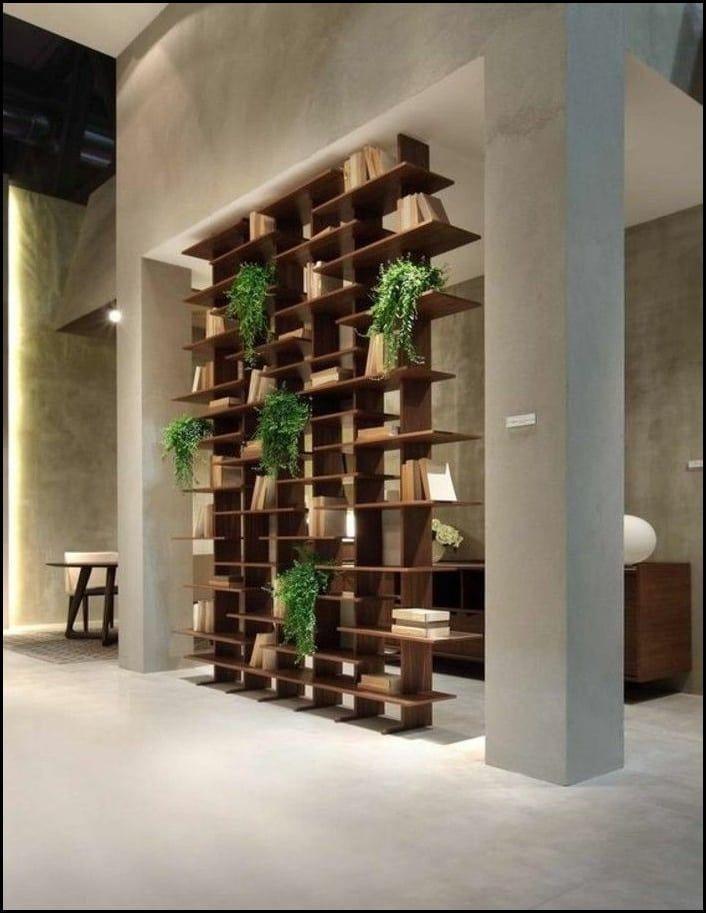 Moderne Ideen zur optischen Trennung durch Regal Raumteiler – hochbett