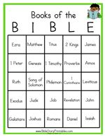 FREE Books of The Bible Bingo! | Bible Based Homeschooling