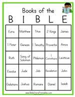 FREE Books of The Bible Bingo!   Bible Based Homeschooling