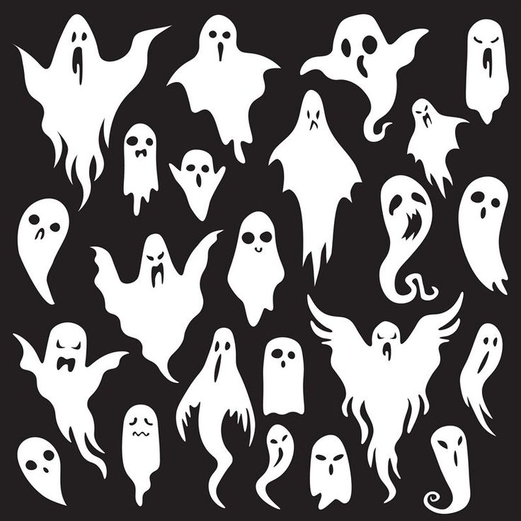 Halloween Ghosts. Ghostly Monster With Boo Scary Face