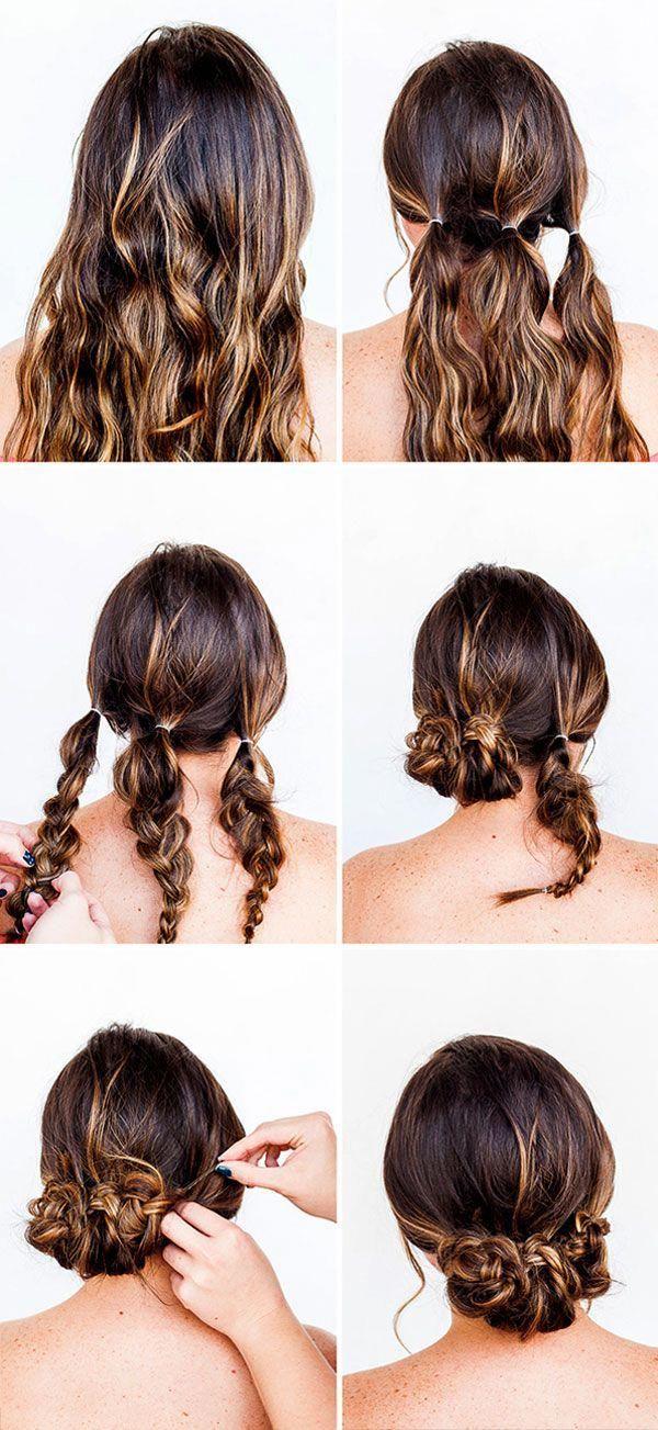 Haircut Styles 2016 Long Hair Nice Updo Hairstyles Easy Diy Updos For Medium Length Hair 20190429 Easy Hair Updos Hair Tutorials Easy Hair Styles