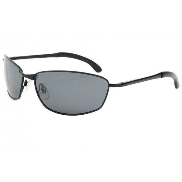 265cf876c6508 Lunettes de soleil sport noires Walt monture fine en métal design effilé  sportswear