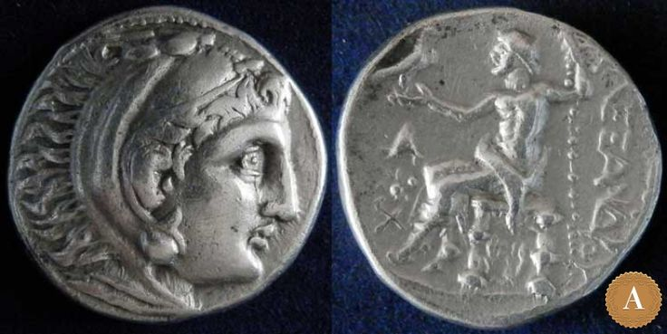 Македонское царство, Александр III Великий, 336-323 годы до Р.Х., тетрадрахма. | ANDREY PYATYGIN ANCIENT COINS | Магазины | Антикварус