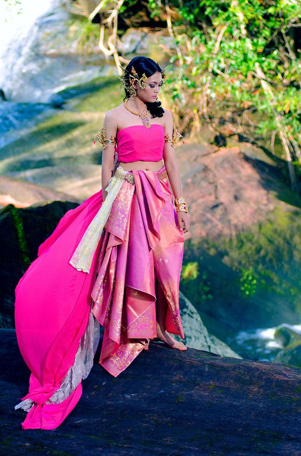 Thai Girl - Pretty Pink Outfit. Not thrilled about all the head gear but lovvveee the skirt!