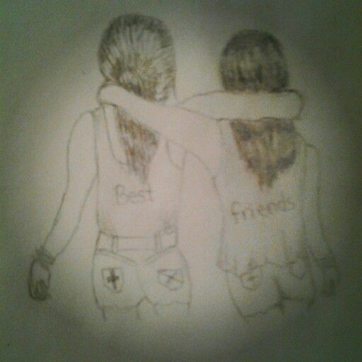 Best Friends Drawing I Did Drawing Ideas Pinterest