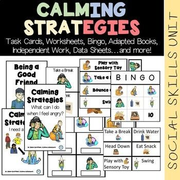 EVERY SPECIAL EDUCATION TEACHER knows how important it is to teach our students to use CALMING or COPING STRATEGIES to manage their own behavior. It's an essential skill..and also a really hard one. This unit focuses on several different calming strategies using AGE APPROPRIATE CLIP ART for