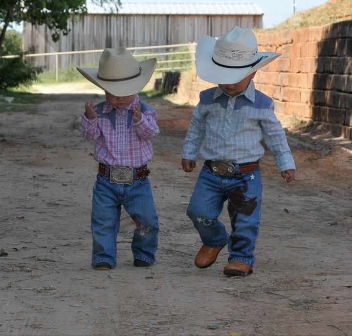 Too dang cute! Little cowboys to melt the heart.