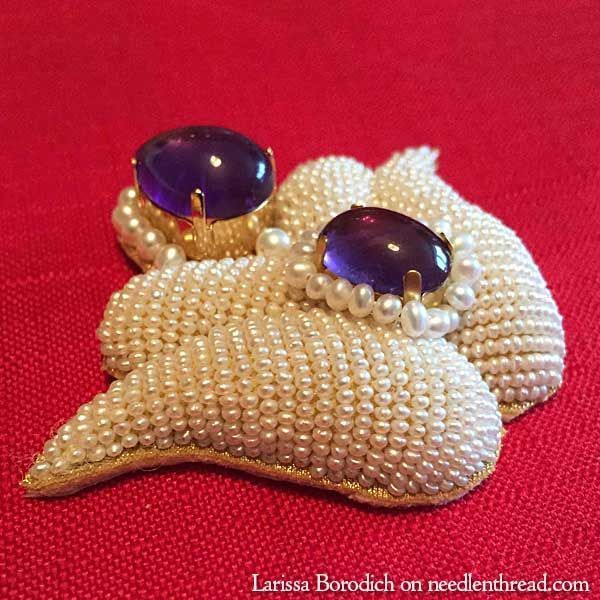 High Relief Bead Embroidery via Mary Corbet: