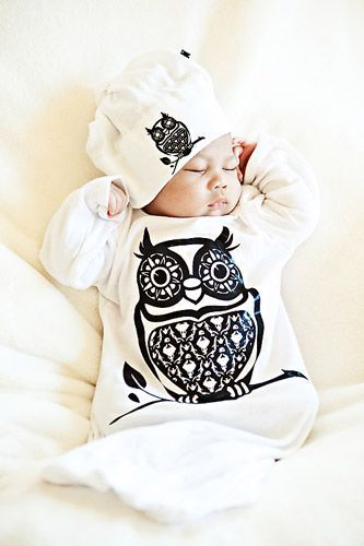 baby owl clothes | Petite Couture Infant Loungy Gown o my gooodness