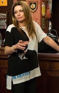 Coronation Street Blog: Alison King on drinking Carla Connor's red, red wi...