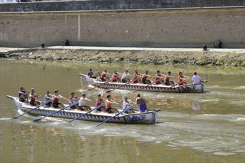 Imbarcazioni storiche - Canottieri - Regata di San Ranieri