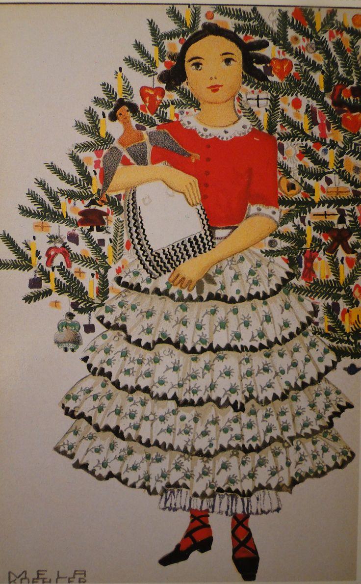 Mela Köhler  (1885-1960)   –– Old Christmas Post Сards  'Fröliche Weinachten!'  (1998×3232):
