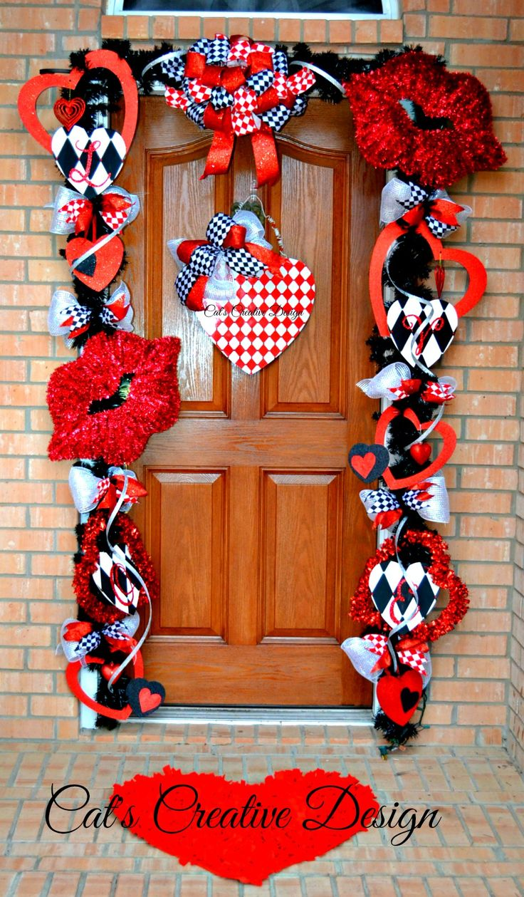 valentines door d cor cat 39 s holiday home decor my