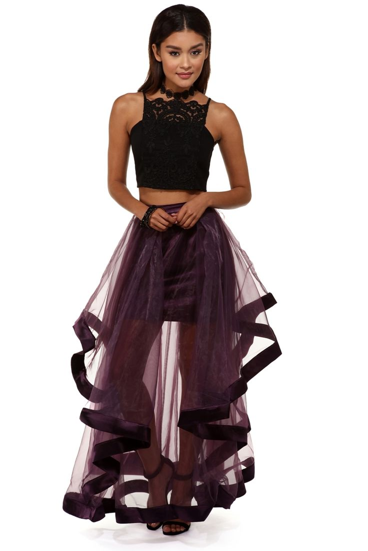 Gemma Purple Two Piece Dress | WindsorCloud