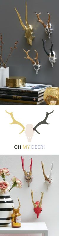 Oh My Deer - Quirky wall décor for that added impact!