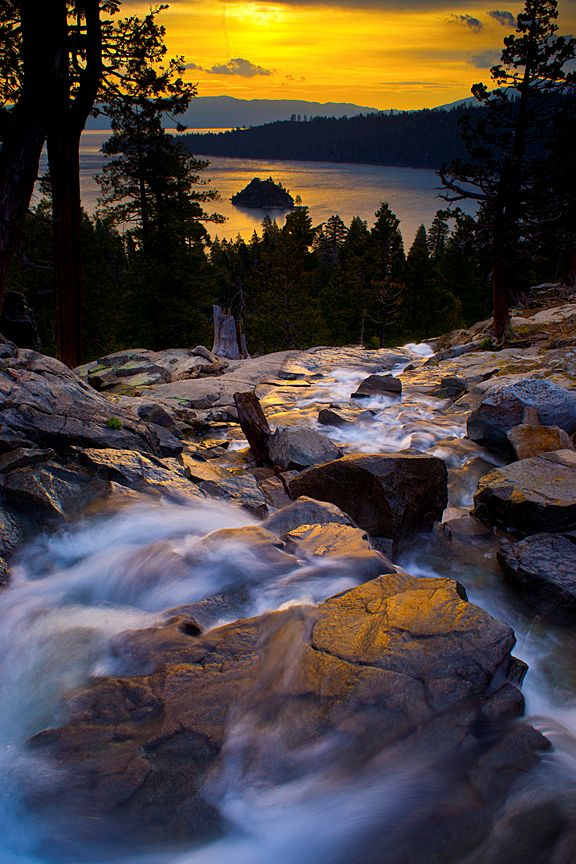 Eagle Falls, Emerald Bay, Lake Tahoe, California. Great shot