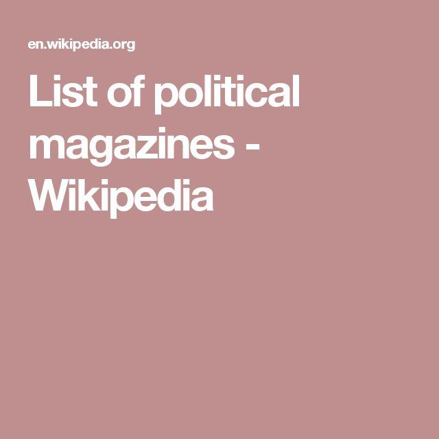 List of political magazines - Wikipedia
