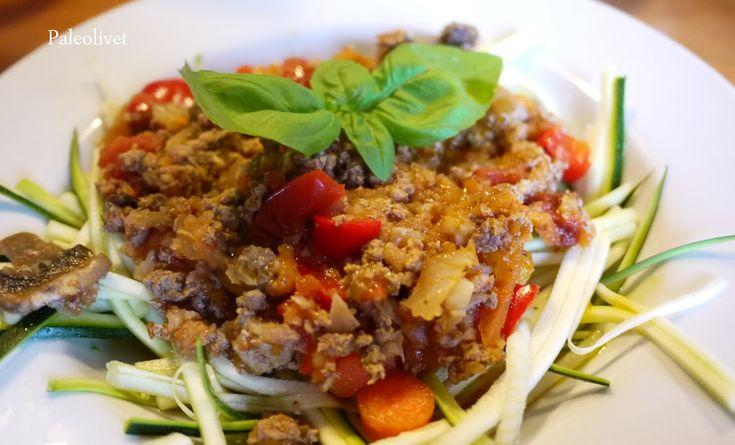 Paleolivet: Paleo Spaghetti med kødsovs - afprøvet og super god