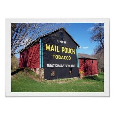 Black Mail Pouch Advertising Barn Image Available On Zazzle
