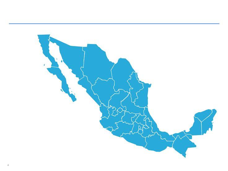 Mapas de México editables en ppt