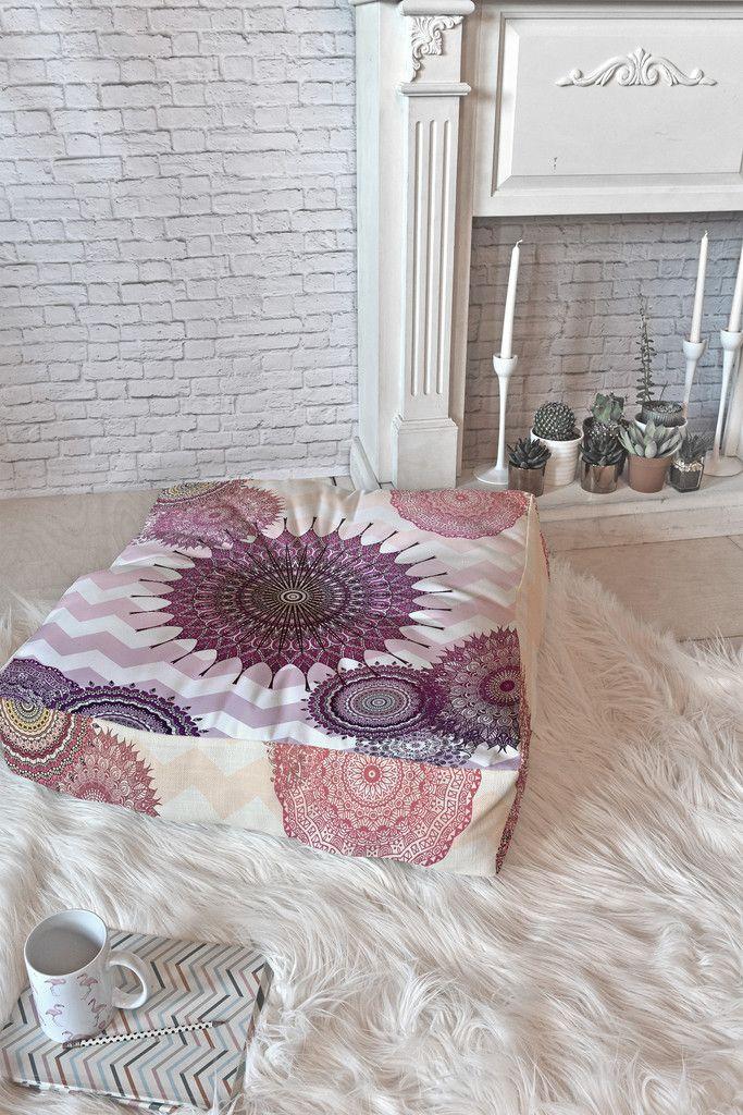Monika Strigel Sweet Boho Dreams Floor Pillow Square | DENY Designs Home Accessories
